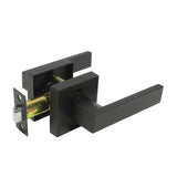 Interior Door Lock Lever Handles on Square Rose Heavy Duty Door Lock Black Finish Keyed Alike/Keyed/Privacy/Passage/Dummy Door Lock DL01BK