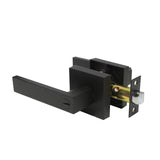 Privacy/Passage/Dummy Heavy Duty Door Lever Handles on Square Rose Black Finish Keyed Door Lock Interior DL01BK