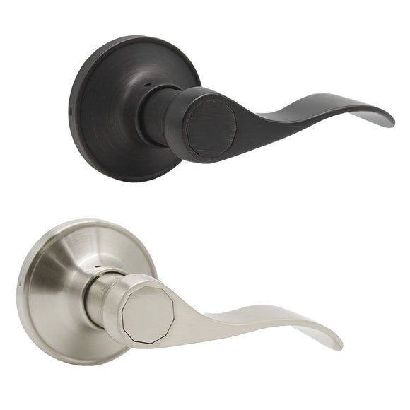 Passage Door Lever Locks Satin Nickel/Oil Rubbed Bronze Finish Closet Hall Door Handle - Probrico