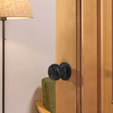 Entrance Keyed Door Locks Round Knob Privacy/Passage Black Lock Handle Sets DL609BK