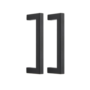 "10mm Square Bar Kitchen Handle Pulls Black Finish Cabinet Hardware Drawer Pulls Knobs 2-12"" PDDJS10HBK"