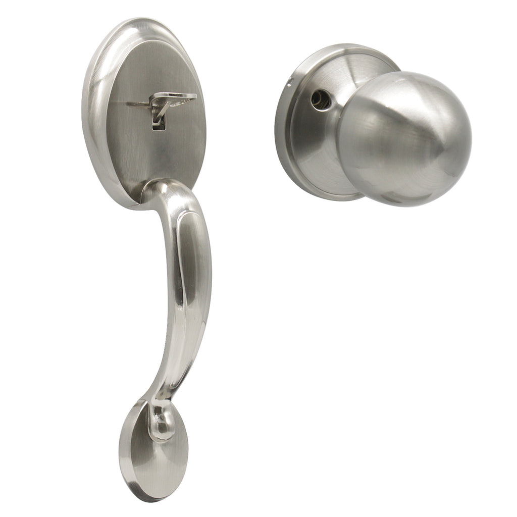Dummy Door Handle Set Satin Nickel Exterior Door Handle