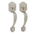 Entry Door Handle Sets Satin Nickel Finish Two Door Pulls - Probrico