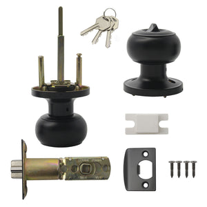 lifetime warranty door lock black knobs