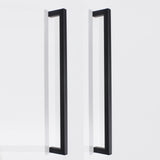 "10mm Square Bar Kitchen Cupboard Handle Pulls Black Cabinet Hardware Drawer Pulls Knobs 2-12"" PDDJS10HBK"