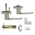 Fashion Heavy Duty Door Handles Brushed Nickel Privacy/Passage Door Lock Levers - Probrico