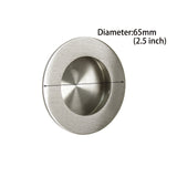 probrico furniture hardware round recessed sliding door handles