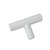 "2""-10"" Modern Cabinet Hardware Handle Pull Kitchen Cabinet T Bar Knobs and Pull Handles White PD2283HWH"