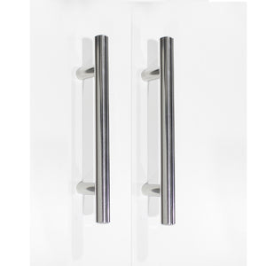 Stainless Steel T Bar Cabinet Handles Polished Chrome Finish, 96mm 3 3/4inch Hole Centers