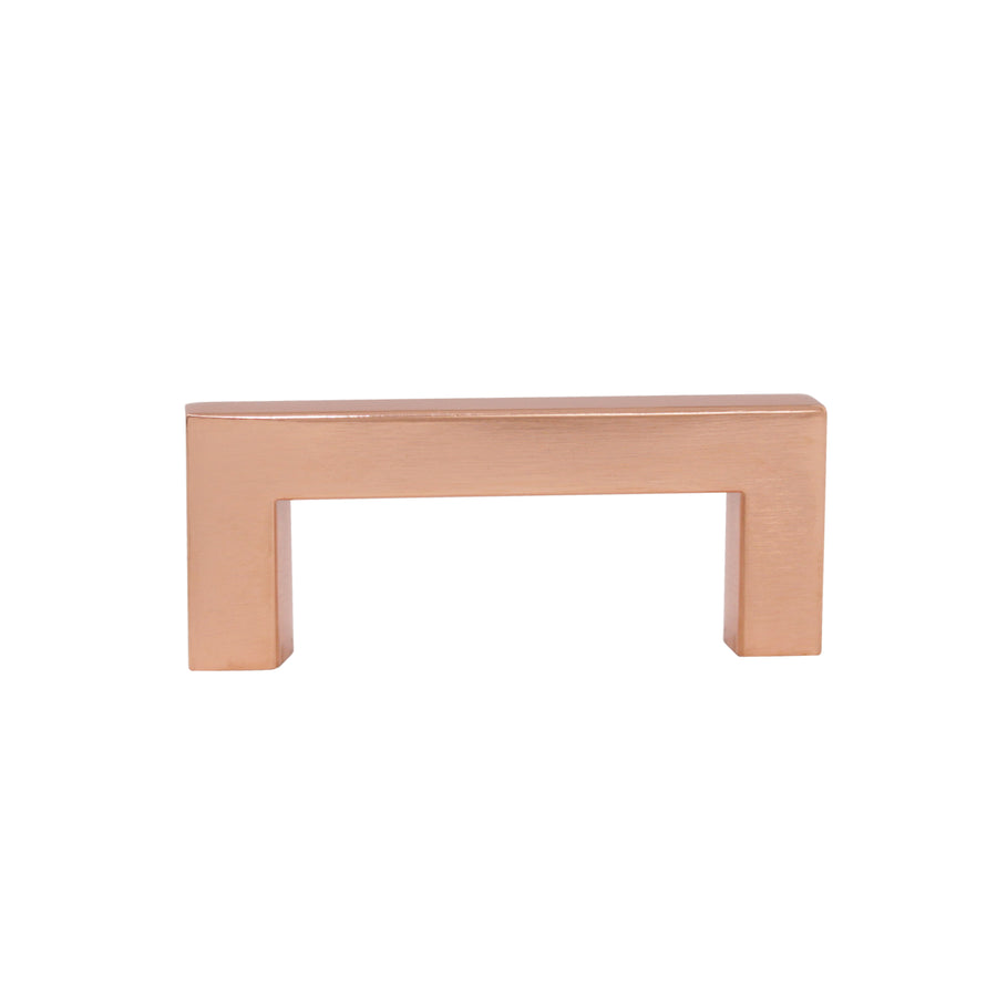Stainless Steel Square Cabinet Handles and Pulls Rose Gold Finish