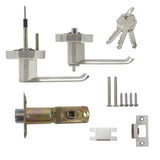 Heavy Duty Entry Keyed Door Lever Lock set Satin Nickel Finish - Keyed Alike