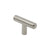 Euro T Bar Pulls 2inch 50mm Lenght Single Hole Solid Handles Brushed Stainless Steel Finish