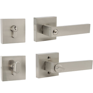 door levers and single cylinder deadbolt