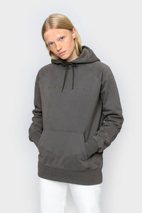 'Spacing' Oversized Bio Hoodie Charcoal