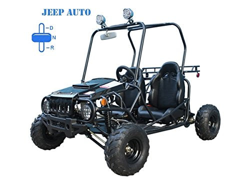 Jeep Auto Style 110cc Engine Gokart with reverse By RideMotorSportsPro