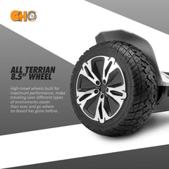 All Terrain Black Rugged 8.5 Inch Wheels Hoverboard Presented By RideMotorSportsPro