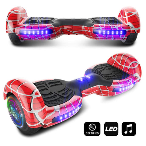 Spider Wheels Series Hoverboard UL2272 Certified Hover Board 6.5 inch Wheels Electric Scooter with Built in Speaker Smart Self Balancing Wheels Presented By RideMotorSportsPro