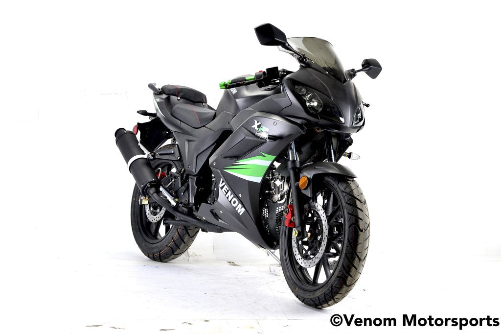 2019 Venom x22 125cc Ninja Motorcycle Street Legal - Green Edition