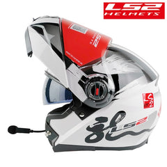 LS2 FF370 Modular Motorcycle Helmet Bluetooth Headset With Flip Up Man intercom kask Capacete With Dual Visor Racing