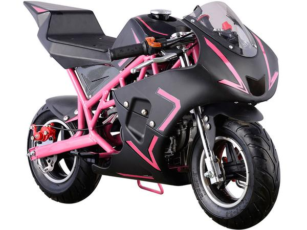 Z3 Sports Pink 2 Stroke Gas Pocket Bike 40cc