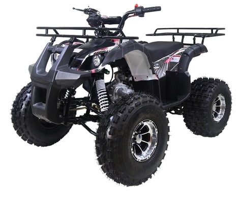 "125cc Quad TForce Utility ATV 4 Wheeler with Automatic Transmission w/Reverse, LED Headlights & 19""/18"" Alloy Rim/Tires By RideMotorSportPro"