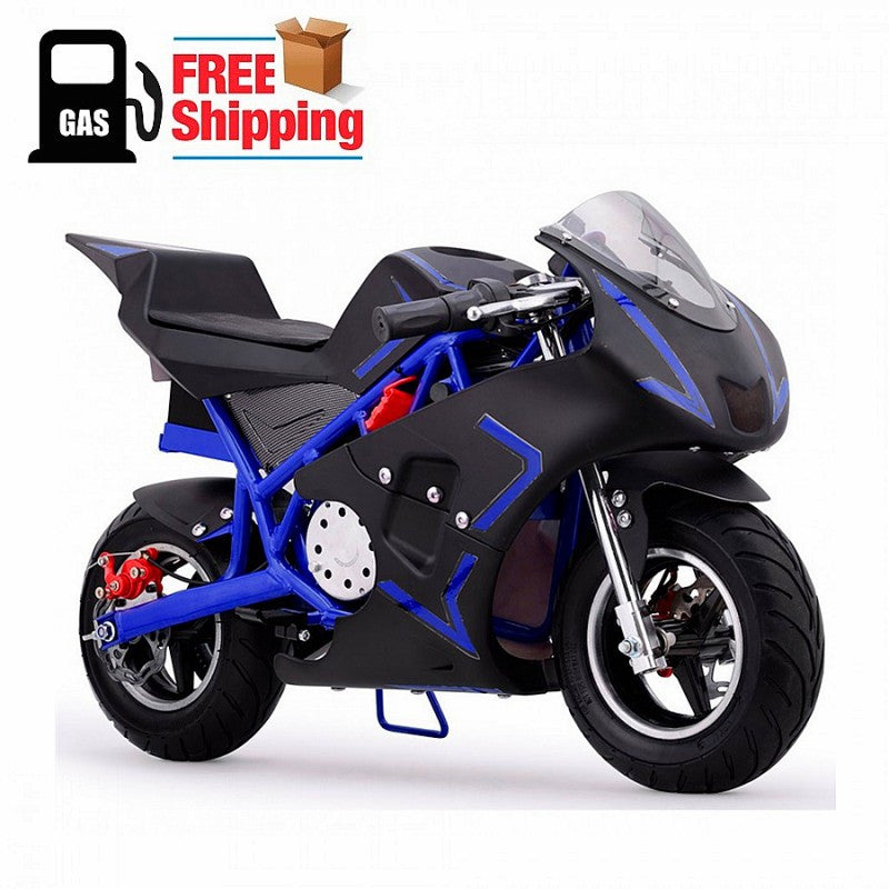 Z3 Sports Blue 2 Stroke Gas Pocket Bike 40cc