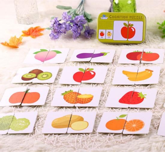 Cognitive Fruit Puzzle Cards