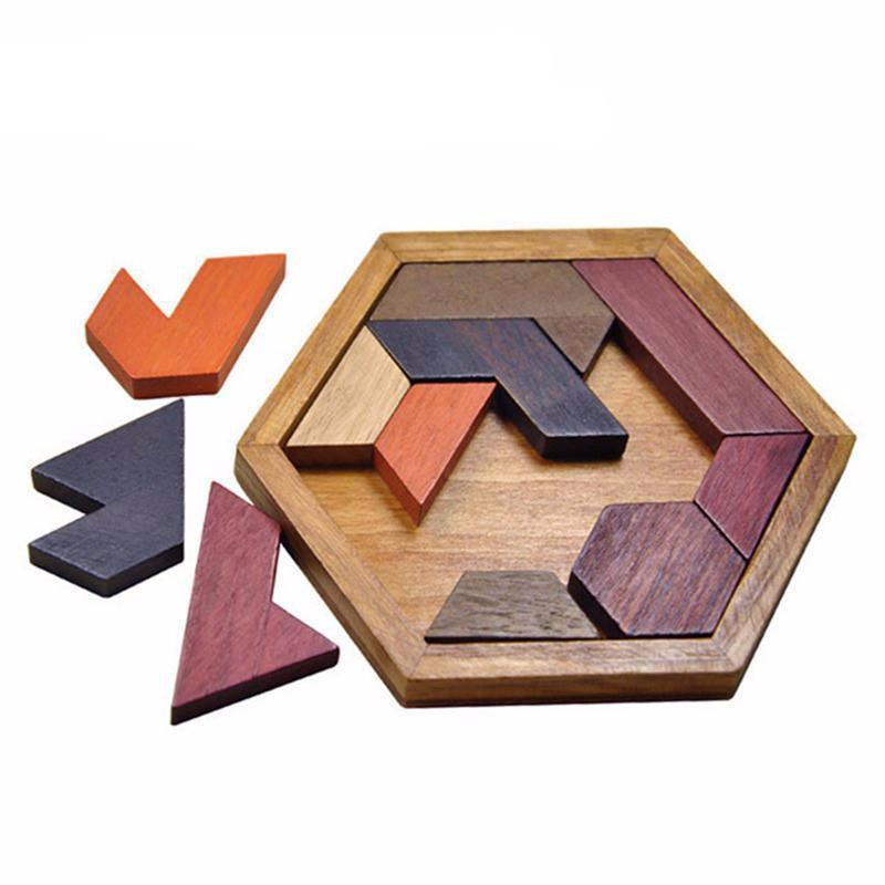 Wooden Tangram Board