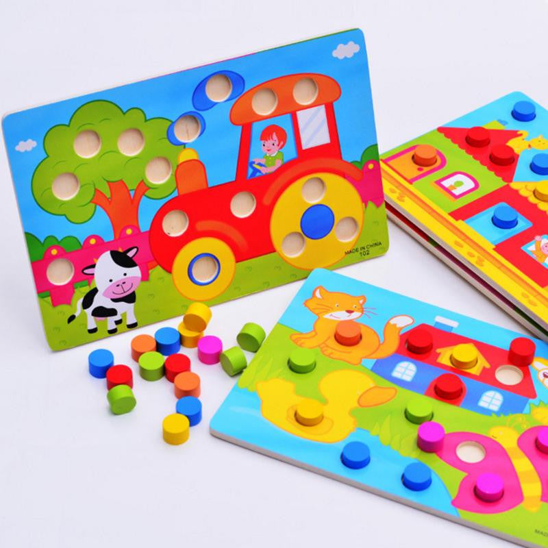 Wooden Jigsaw Educational Puzzle Board