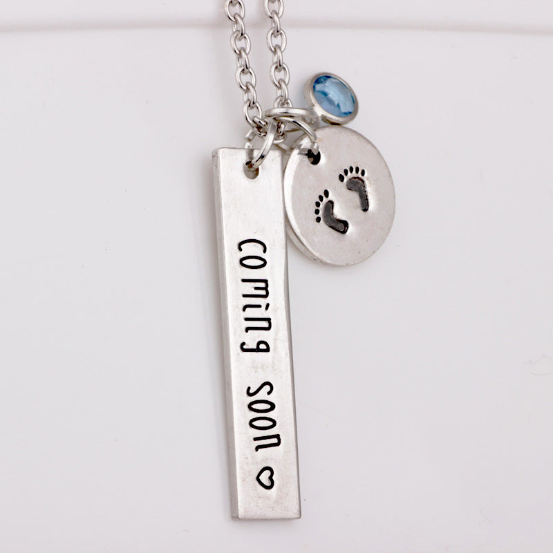 Expecting Mom 'Coming Soon' Necklace