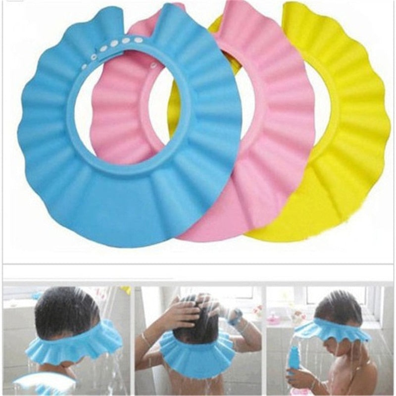 Safe Baby Shower Cap Kids Bath