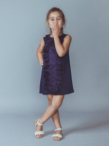 Sailor Blue Ruffled A-Line Dress, Dresses, Noovo