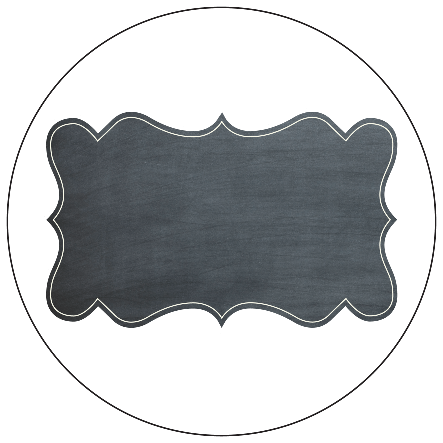 chalkboard style gift labels - stay stuck labels