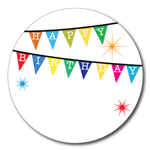 Birthday Bunting Gift Labels