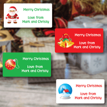Assorted Christmas Gift Labels