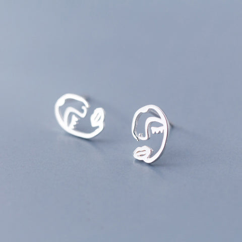 Picasso Face Stud Earrings