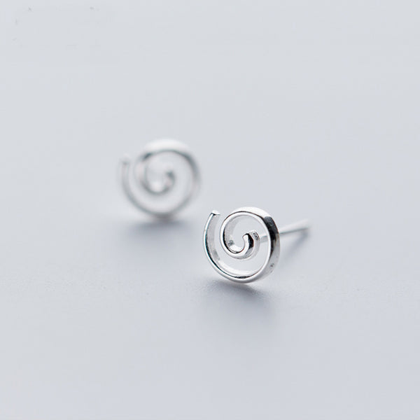 Spiral Stud Earrings