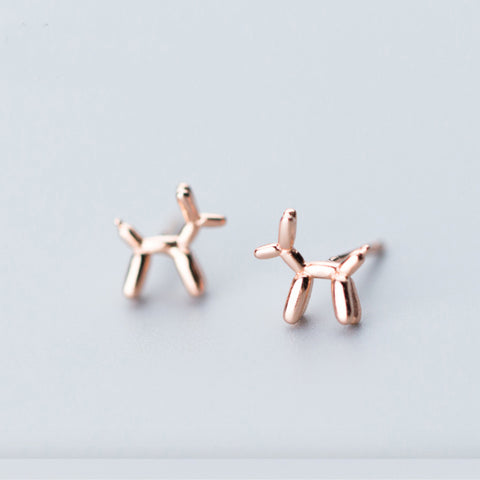 Tiny Dog Stud Earrings