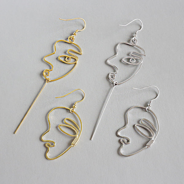 Picasso Face Drop Earrings
