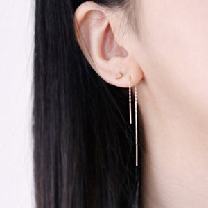 Thin Bar Threader Earrings