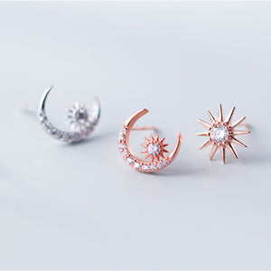 Moon and Sun Earrings (Asymmetry)