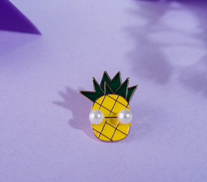 Pineapple& Bird Enamel Pin