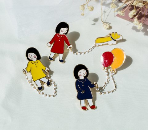 Little Girl Enamel Pin