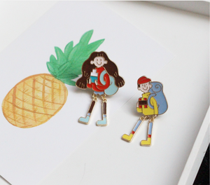 Boy& Girl Enamel Pin