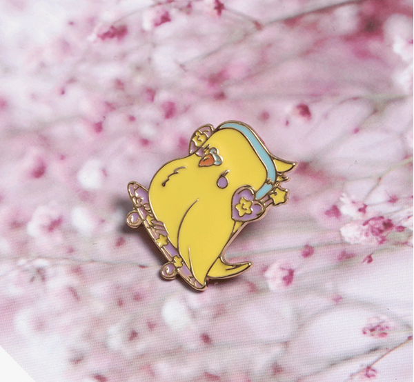 Yellow Chicken Enamel Pin