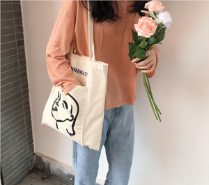 Face Canvas Tote Bag