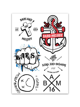 Temporary Tattoo Set
