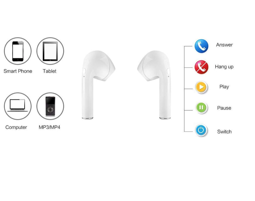 Earphone Wireless Bluetooth Headset Mini - Best True HiFi Stereo in-Ear - Piece Charging Case and Pouch Included 4.2 EDR Chipset