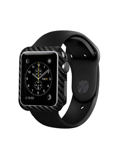 Carbon Fiber Case for Apple Watch Case Series 2 3 38mm/42mm Ultra Thin for iWatch Protector Shell (42mm)