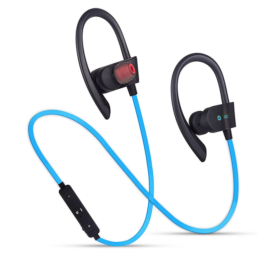 Wireless Bluetooth Headset - Sports Earbuds with Mic IPX Waterproof - HD HIFI Sound with Bass - Noise Cancelling Adjustable Sports Headset